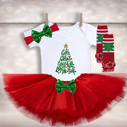 Baby Girl's Christmas Vacation Outfit