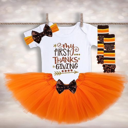 Fall Baby Girls Outfit
