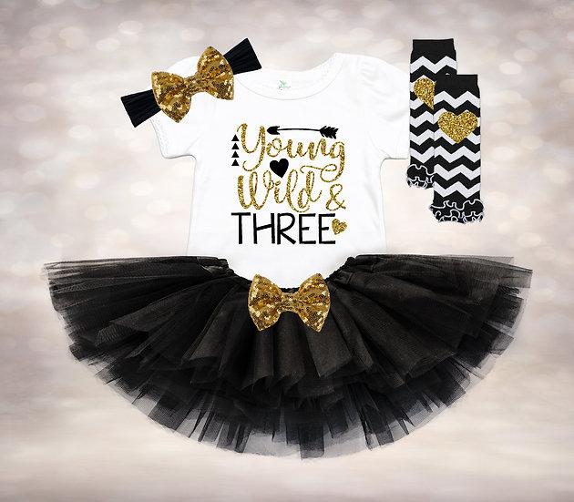 Young Wild & Three - Black&Gold