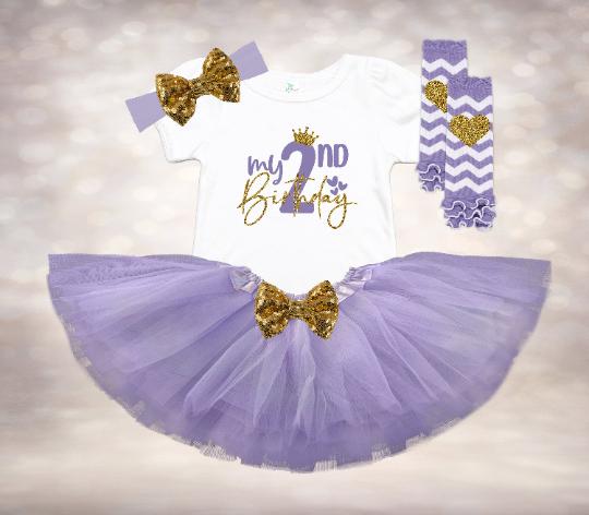 My 2nd Birthday - Lavender&Gold