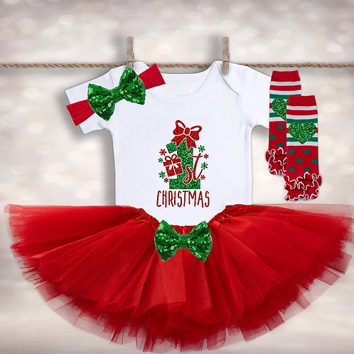 1st Christmas Tutu Outfit