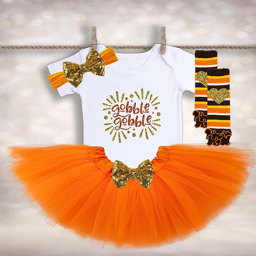 Baby Girl's Turkey Day Outfit