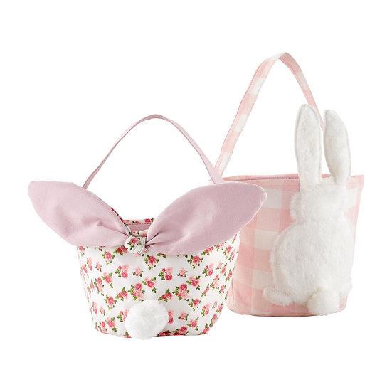 Gingham Rose & Pink Easter Basket by MudPie