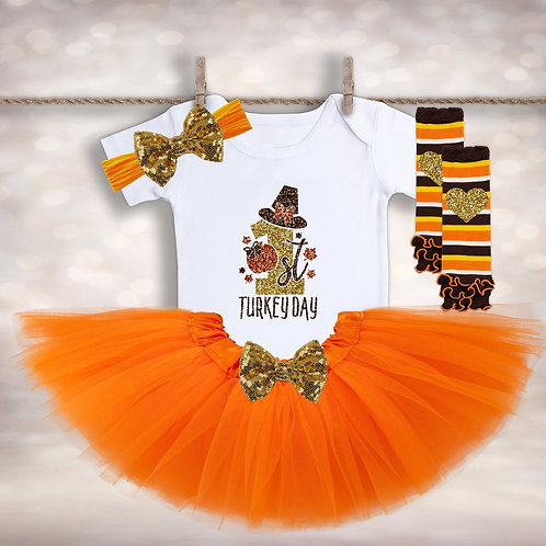 1st Turkey Day Tutu Outfit