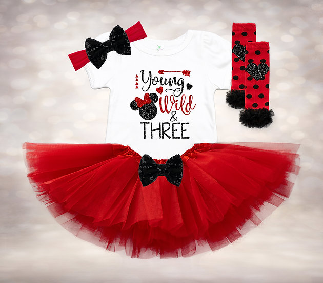 Disney Young Wild & Three - Red&Black