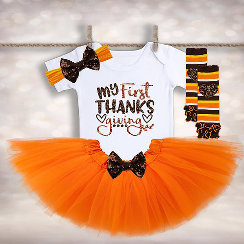 Girls My First Thanksgiving Outfit