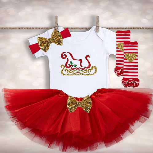 Baby Girl's Winter Tutu Outfit