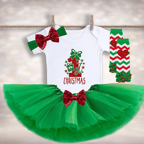 Baby Girl's Christmas Outfit