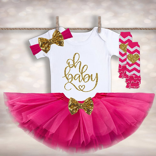 Baby Announcement Tutu Outfit
