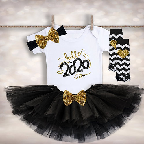 Baby Girl's Hello 2020 Outfit