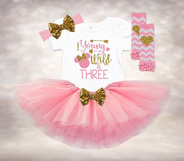 Disney Young Wild & Three - Pink&Gold