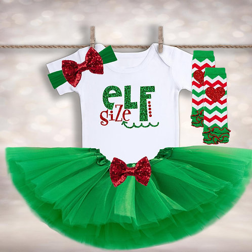Elf Size Christmas Outfit