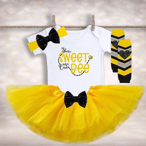 Sweet as Can Bee Tutu Outfit