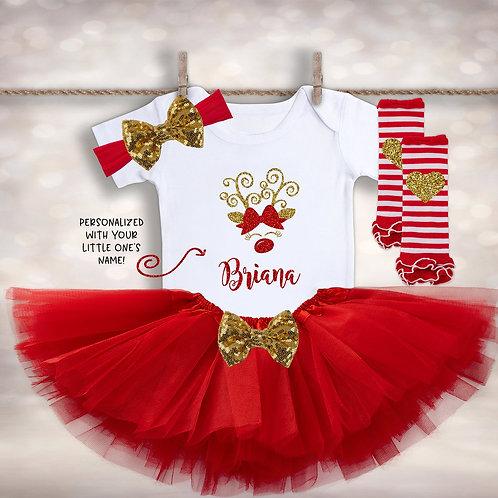 Personalized Rudolph Christmas Tutu