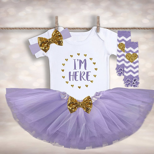 I'm Here New Baby Tutu Outfit