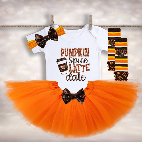 Baby Girl's Pumpkin Spice Latte Outfit