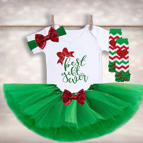 Christmas Baby Announcement Outfit