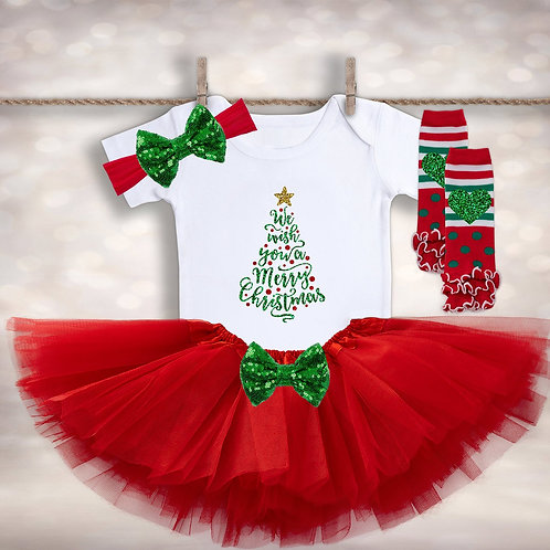 Girl's We Wish You a Merry Christmas Outfit