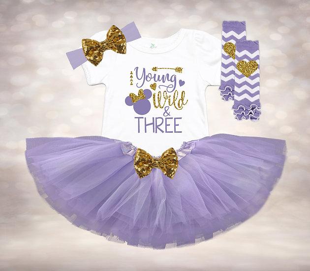 Disney Young Wild & Three - Lavender&Gold