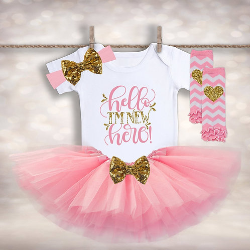 Baby Girl's First Tutu Outfit