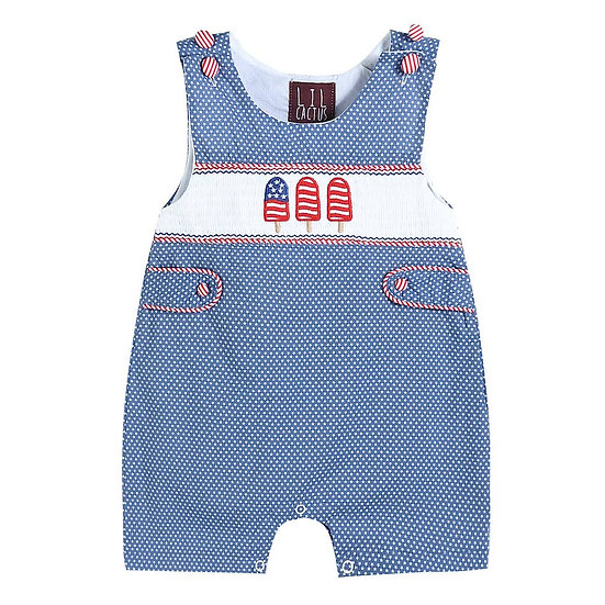 Blue Americana Popsicles Romper with Short Pants