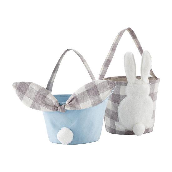 Gingham Blue Easter Basket by MudPie