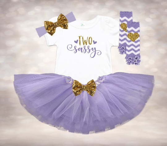 Two Sassy - Lavender&Gold