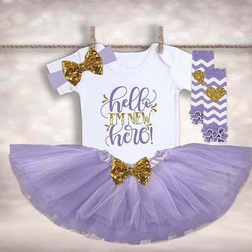 Hello I'm New Here Tutu Outfit