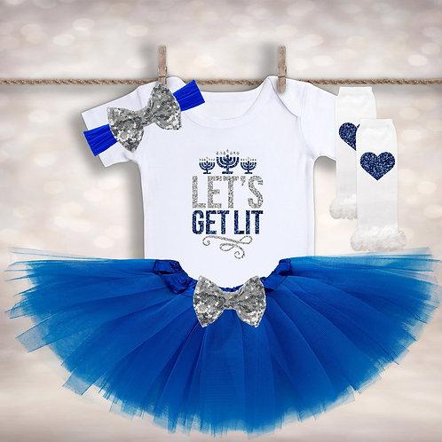 1st Hanukkah Tutu Outfit