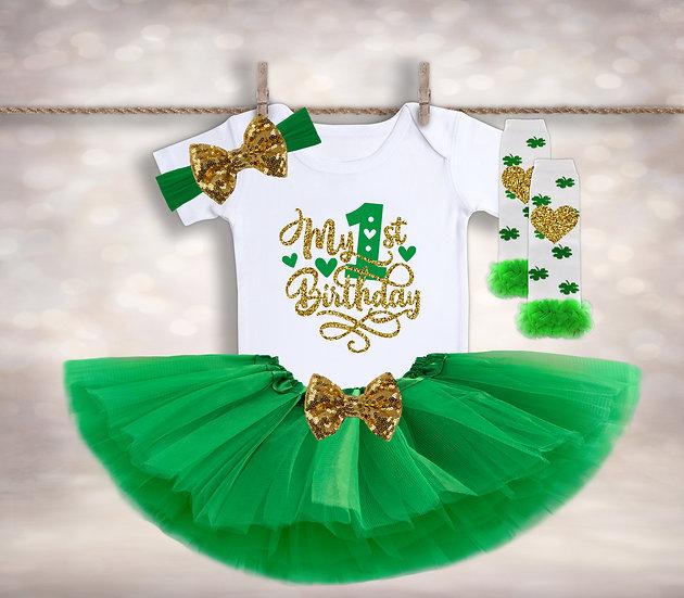 My First Birthday - Green&Gold