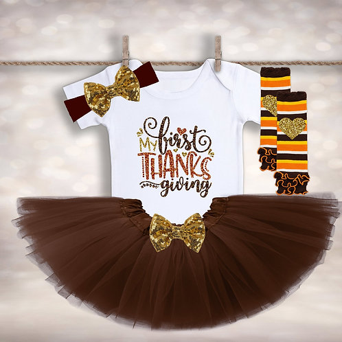 Baby Girls Thanksgiving Tutu Outfit