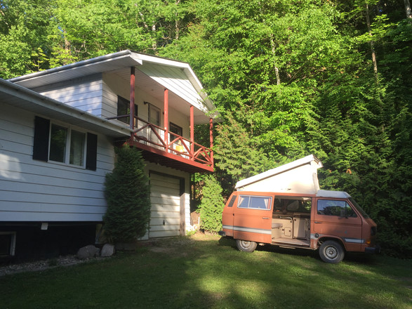 idylwild cottage - gretyl the camper van - two doubles