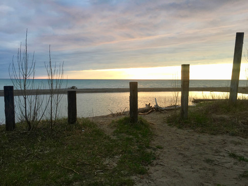 lake huron at zion road public beach