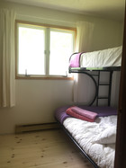 idylwild cottage - birch room - double futon and twin bunk bed