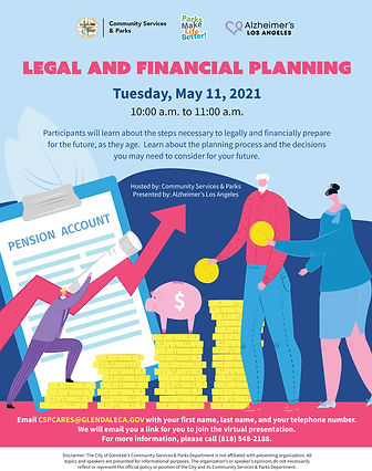 Legal and Financial seinor planning flye