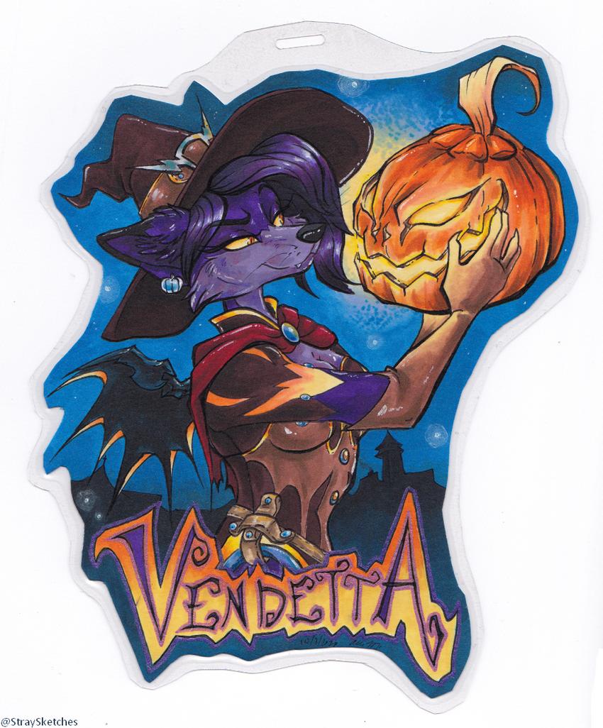 Vendetta Halloween badge