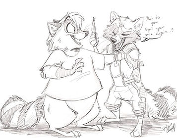 Commission-Beeton meets Rocket for lycan
