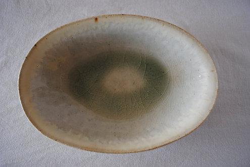 河内啓 灰釉オーバル鉢