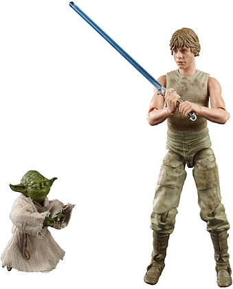 "Luke  Skywalker  and  Yoda  ""Training Jedi"" - Star Wars - Hasbro"