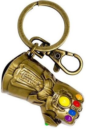 Gauntlet Gold Key Ring - Avenger 3 Infinity War - Monogram