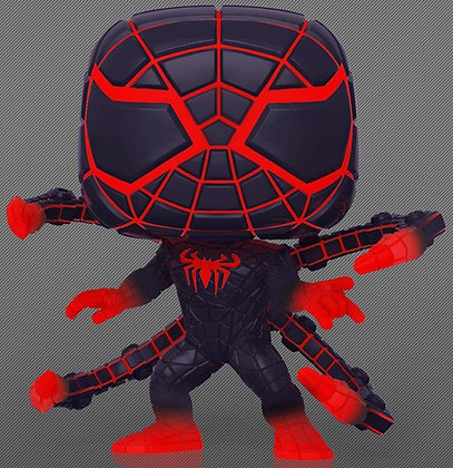 Spiderman Miles Morares  (Glows in the dark) - Spiderman Game Verse - Pop Funko