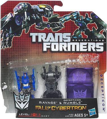 Ravage & Decepticon Rumble - Transformers Fall of Cybertron - Hasbro
