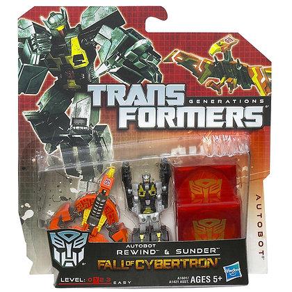 Rewind & Sunder Autobot - Transformers Fall of Cybertron - Hasbro
