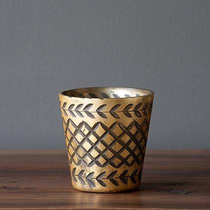 Vaso de Vidrio Oro Antiguo
