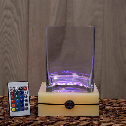 Base Cuadrada con LED