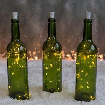 Botella  Verde con Corcho Integrado