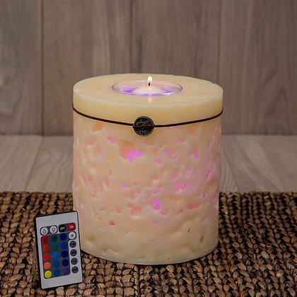 Cilíndrica Coral con LED: Ovni