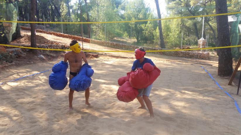 Giant boxing- original team buildnig activitiy in Hvar
