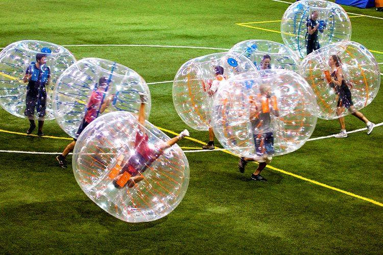 Bubble football/zorb football game on hvar island croatia.new thing to do in adventure park hvar jelsa for 2019