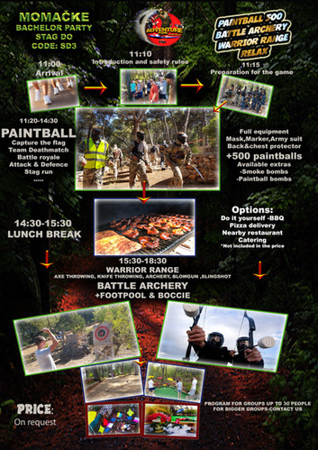 SD3- BACHELOR PAINTBALL + BATTLE+ WARRIO